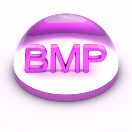 3D Style file format icon over white background - BMP Stock Photo