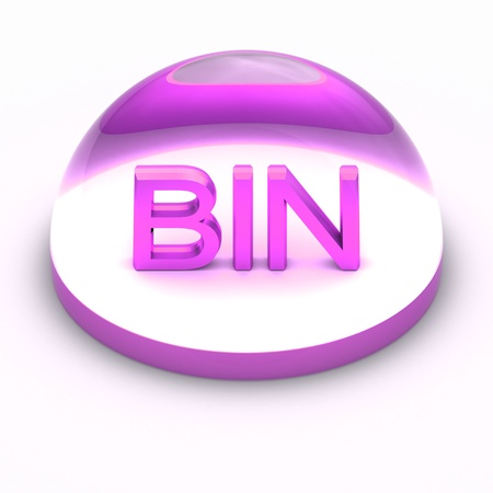 compatible: 3D Style file format icon over white background - BIN