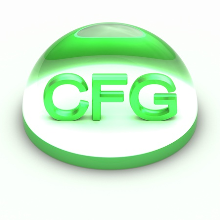 compatible: 3D Style file format icon over white background - CFG