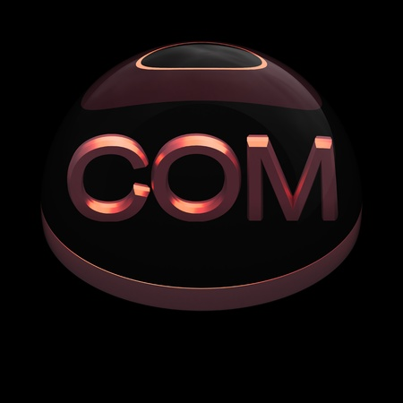 3D Style file format icon over black background - COM photo