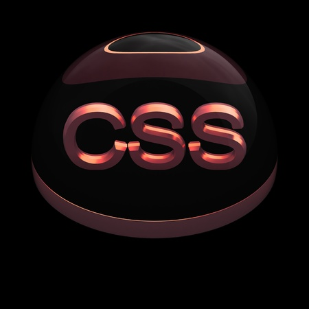 3D Style file format icon over black background - CSS Stock Photo - 12845200