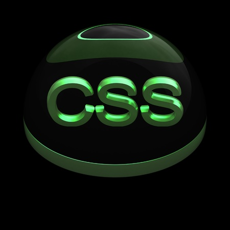 3D Style file format icon over black background - CSS Stock Photo - 12845232