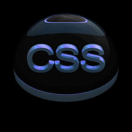 3D Style file format icon over black background - CSS Stock Photo - 12845187