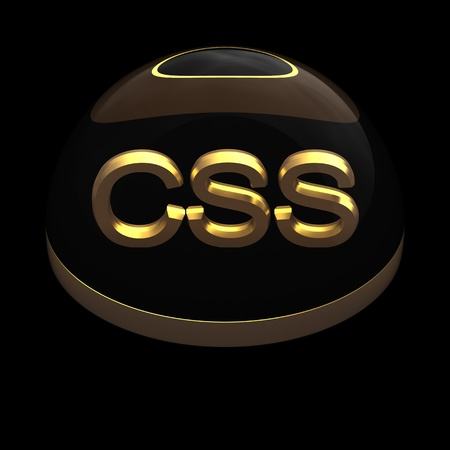 3D Style file format icon over black background - CSS Stock Photo - 12845222