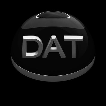dat: 3D Style formato di file icon su sfondo nero - DAT