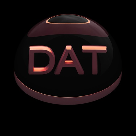 dat: 3D Style file format icon over black background - DAT Stock Photo