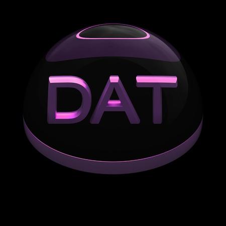 dat: 3D Stile formato icona del file su sfondo nero - DAT
