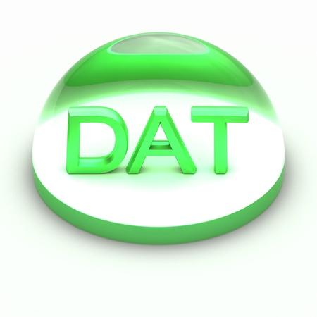 dat: 3D Stile formato icona del file su sfondo bianco - DAT