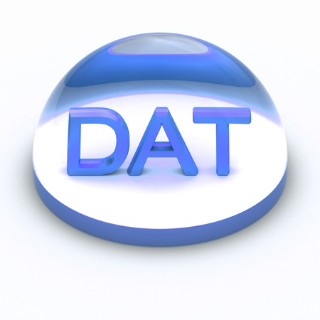 dat: 3D Style file format icon over white background - DAT