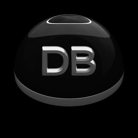 db: 3D Style file format icon over black background - DB