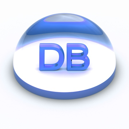 db: 3D Style file format icon over white background - DB Stock Photo
