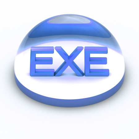 compatible: 3D Style file format icon over white background - EXE