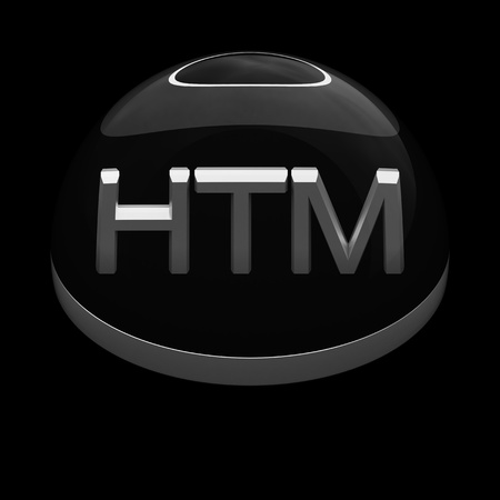 3d Style File Format Icon Over Black Background Html Stock Photo