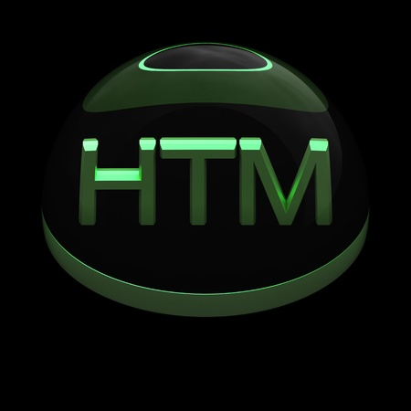 3D Style file format icon over black background - HTML Stock Photo - 12866669