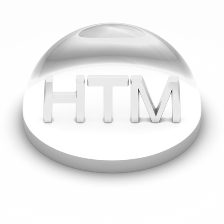 htm: 3D Style file format icon over white background - HTML