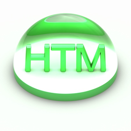 compatible: 3D Style file format icon over white background - HTML