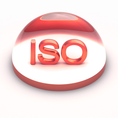 3D Style file format icon over white background - ISO Stock Photo