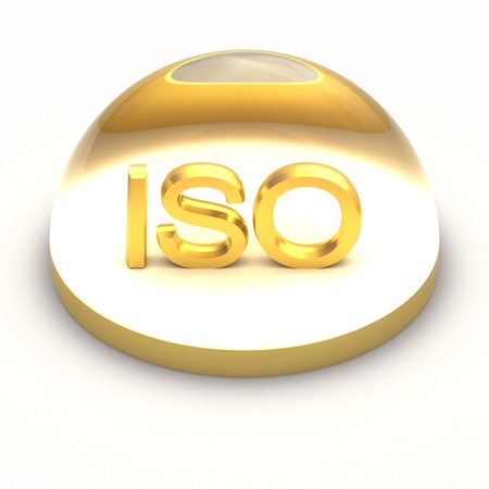 3D Style file format icon over white background - ISO Stock Photo - 12866772