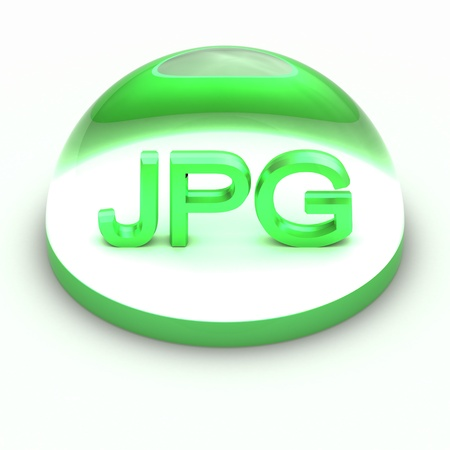 3D Style file format icon over white background - JPG