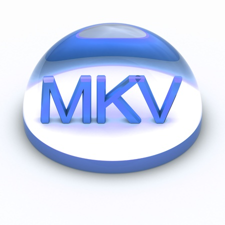 3D Style file format icon over white background - MKV Stock Photo - 12866792