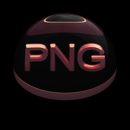 png: 3D Style file format icon over black background - PNG