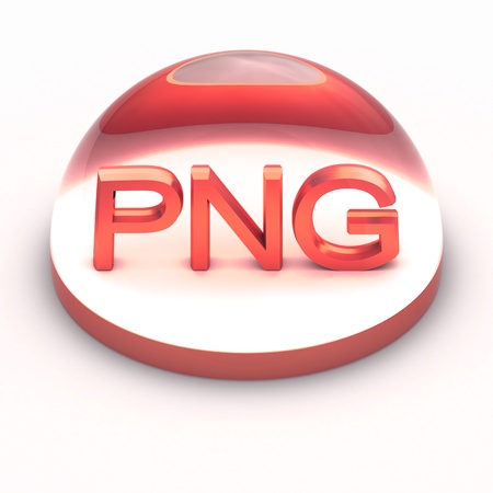 3D Style file format icon over white background - PNG