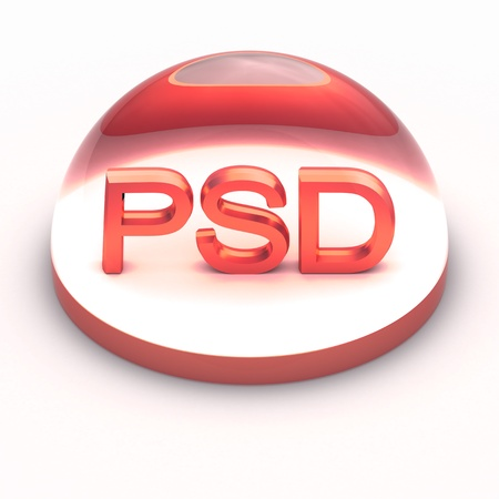 compatible: 3D Style file format icon over white background - PSD