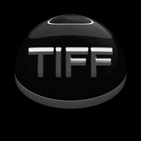 3D Style file format icon over black background - TIFF Stock Photo - 12866816