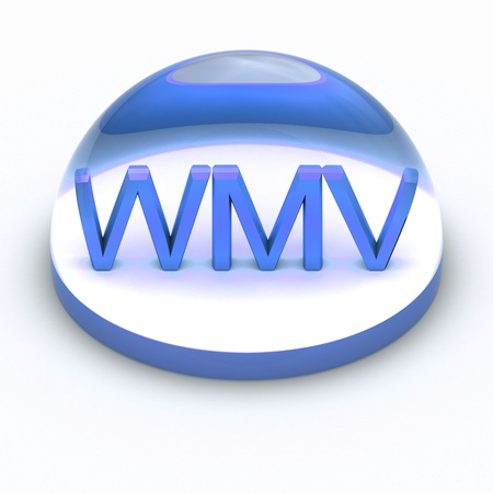 wmv: 3D Style file format icon over white background - WMV