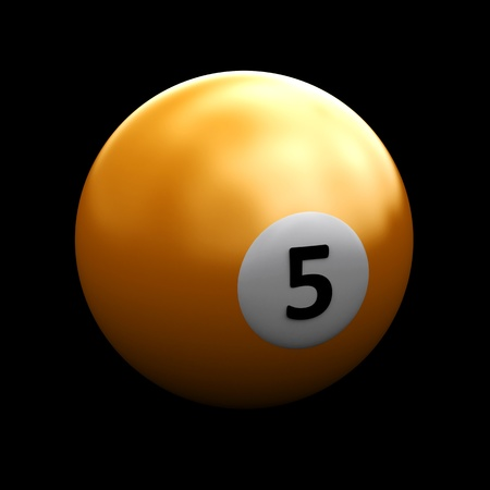 Single colorful pool ball on a black background Stock Photo - 12866866