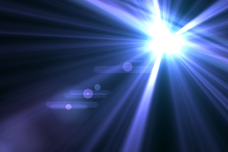 glow: Lens flare abstract background  Asymmetric light rays