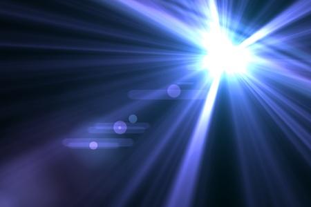 Lens flare abstrait asymétriques rayons lumineux Banque d'images