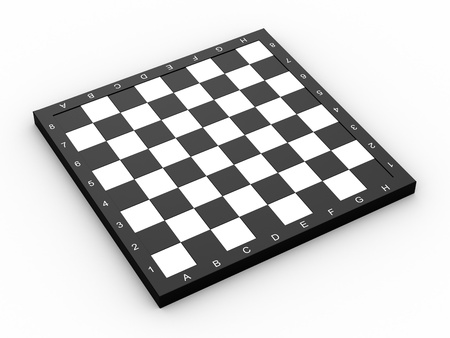 Empty colorless chess board over white background Stock Photo - 13110349