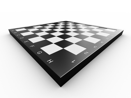 Empty colorless chess board over white background Stock Photo - 13110345