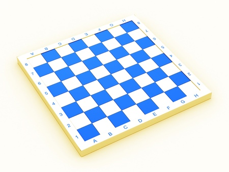 Empty colorful chess board over white background Stock Photo - 13110357