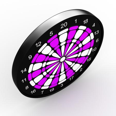 Dart Board  3D rendered illustration over white background illustration