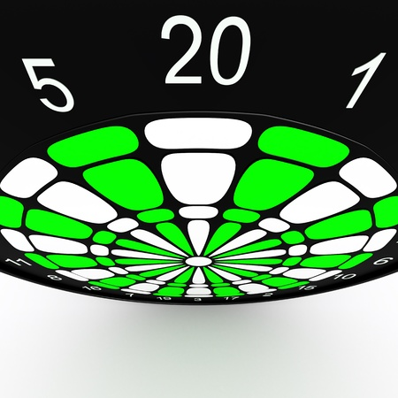 Dart Board  3D rendered illustration over white background Stock Illustration - 13125942