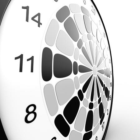 Dart Board  3D rendered illustration over white background Stock Illustration - 13125939