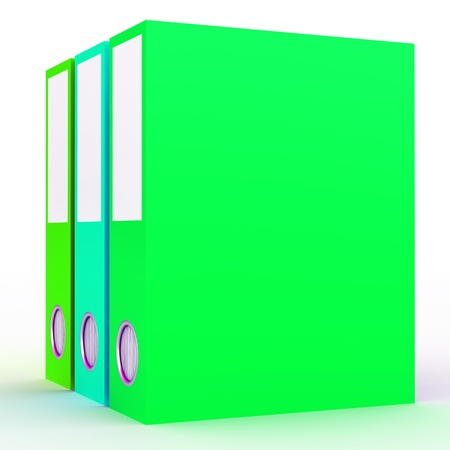 3D Rendered office folders over white background Stock Photo - 13147852