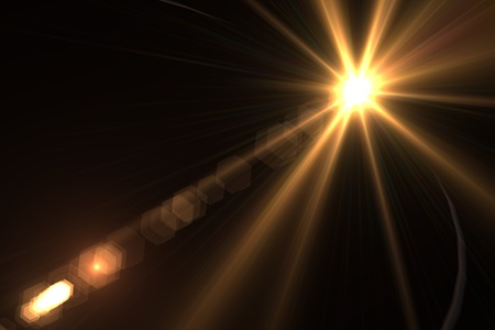 lens flare: Lens flare background raggi di luce asimmetrica