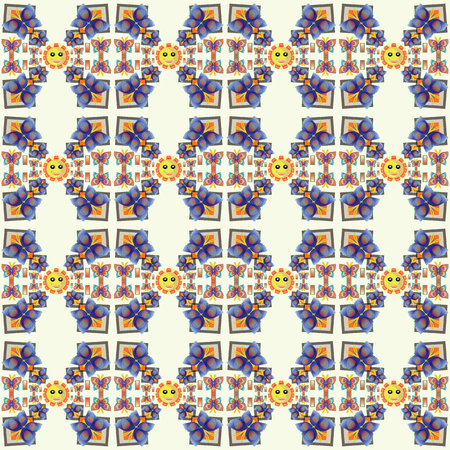 soft colors: Smile Butterfly  Pattern with smile sunny in soft colors