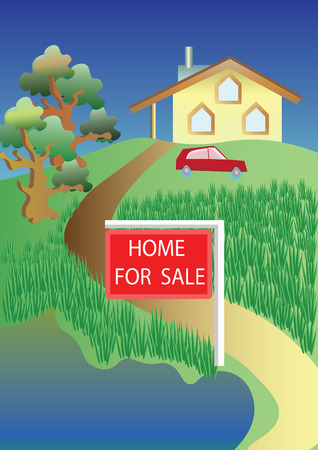 home value: Road to home with announcement for sale
