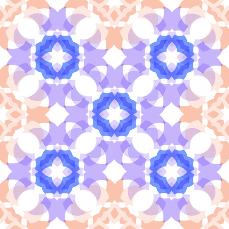 translucent: colored  translucent seamless geometric shapes soft pattern Illustration