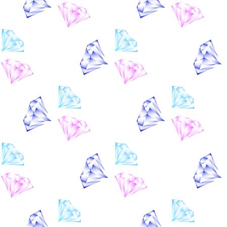 twill: shining diamonds seamless pattern on a white background