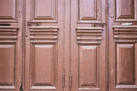 door knob: old brown doors