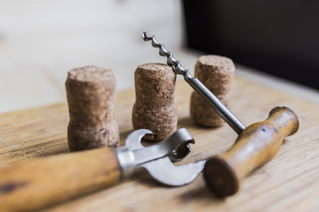 bottle opener and corkscrew Stock Photo