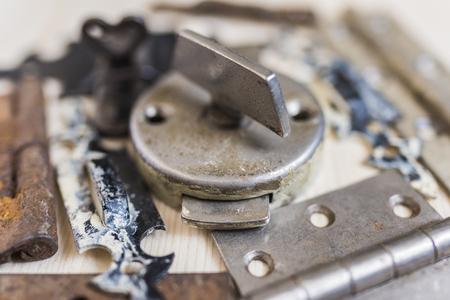 Old locks and door hinges 3