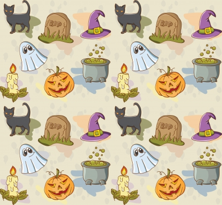 witch hat: Seamless pattern for Halloween holiday with the traditional picture