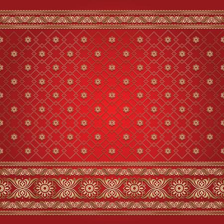 Indian ornamental background pattern Illusztráció