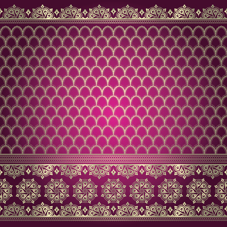 sari: Indian ornamental background pattern Illustration